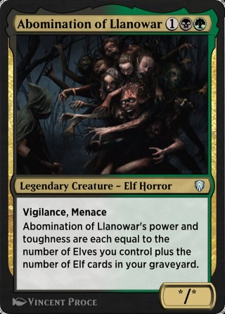 Abomination of Llanowar