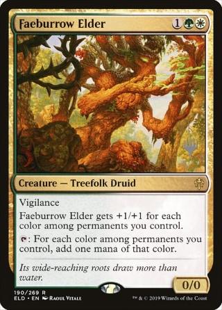 FAEBURROW ELDER Throne of Eldraine MTG Gold Creature Treefolk Druid Rare