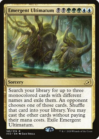 the Gathering MTG Ikoria Magic Lair of Behemoths Eerie Ultimatum 184//274