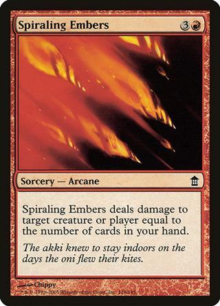 Spiraling Embers