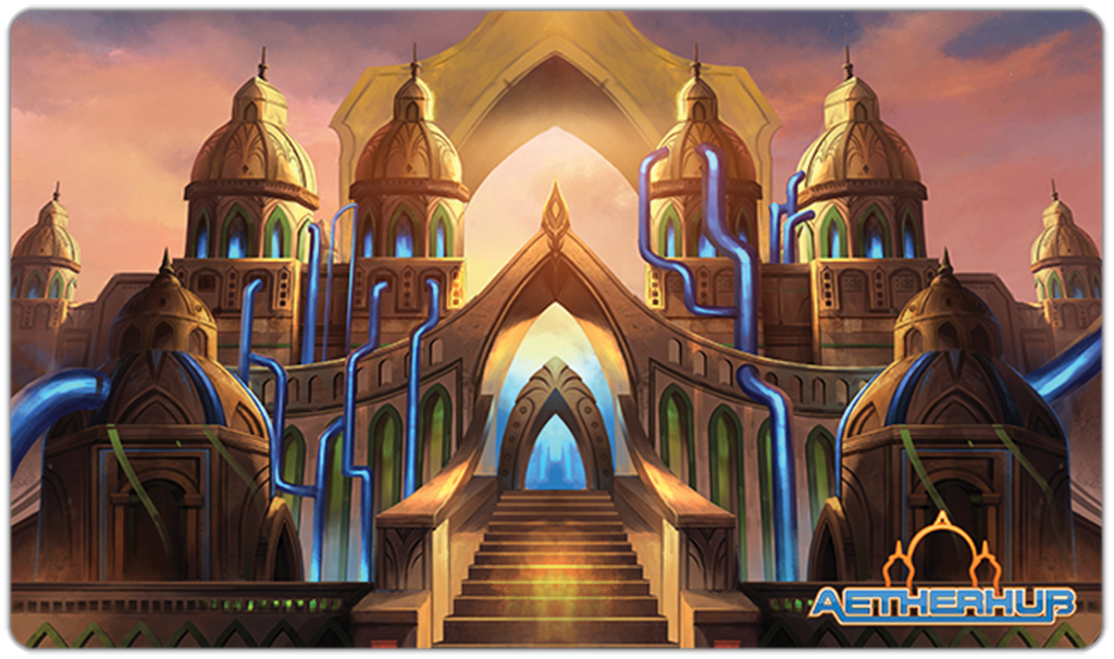 AetherHub Playmat Small Logo