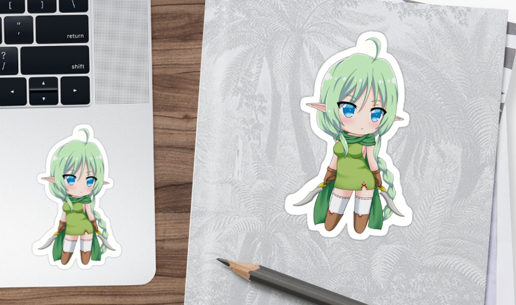 Sticker Chibi Elf