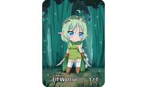 Chibi Series Elf Token